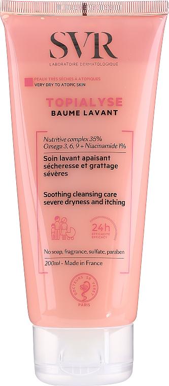 Baume lavant à l'huile de coco pour visage et corps - SVR Topialyse Baume Lavant