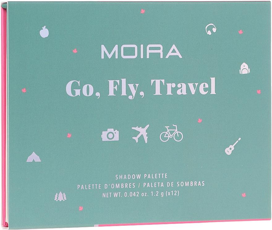 Palette d'ombres à paupières - Moira Happy Go, Fly, Travel Shadow Palette — Photo N2