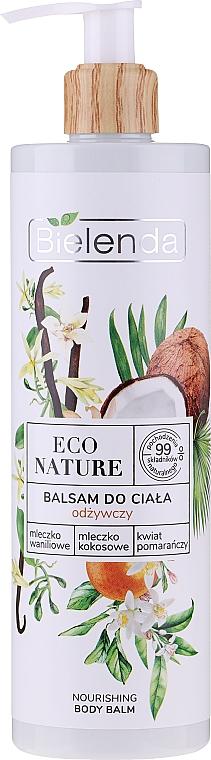 Baume à l'huile de noix de coco pour corps - Bielenda Eco Nature Vanilla Milk, Coconut Milk, Orange Blossom Nourishing Body Lotion