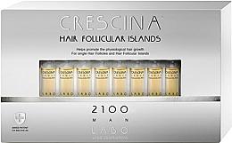 Parfums et Produits cosmétiques Traitement en ampoules pour cheveux 2100 - Crescina Hair Follicular Island 2100 Man