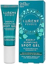 Parfums et Produits cosmétiques Gel anti-imperfections à l'extrait de reine des près pour visage - Lumene Puhdas Deeply Purifying Spot Gel