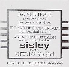 Baume pour contour des yeux et lèvres - Sisley Baume Efficace Botanical Eye and Lip Contour Balm — Photo N3