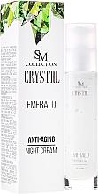 Parfums et Produits cosmétiques Crème de nuit à la poudre d'émeraude et huile d'argan - SM Collection Crystal Emerald Anti-Aging Night Cream