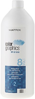 Oxydant éclaircissant 2,4% - Matrix Colorgraphics Lift & Tone Promoter 8 Vol — Photo N1