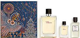 Parfums et Produits cosmétiques Hermes Terre d'Hermes - Coffret (eau de toilette/100ml + eau de toilette/12.5ml + lotion après-rasage/40ml)
