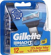 Parfums et Produits cosmétiques Lames de rechange pour rasoir, 12 pcs - Gillette Mach3 Turbo