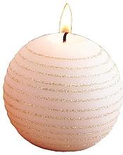 Parfums et Produits cosmétiques Bougie décorative, rose-or, boule, 10 cm - Artman Andalo
