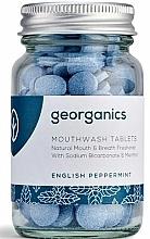 Parfums et Produits cosmétiques Comprimés de bain de bouche à la menthe anglaise - Georganics Natural Mouthwash Tablets English Peppermint