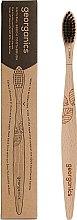 Parfums et Produits cosmétiques Brosse à dents en bambou, souple - Georganics Charcoal Soft Toothbrush