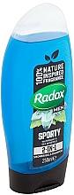 Shampooing et gel douche - Radox Men Feel Sporty 2in1 Shower Gel — Photo N2