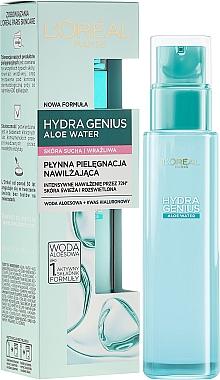 Soin hydratant à l'eau d'aloès et acide hyaluronique pour visage - L'Oreal Paris Hydra Genius Aloe Water