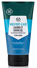 Parfums et Produits cosmétiques Gel de rasage à l'aloe vera - The Body Shop Maca Root & Aloe Calming Icy Shaving Gel