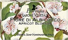 Parfums et Produits cosmétiques Savon, Fleur d'abricot - Florinda Sapone Apricot Blossom Vegetal Soap Bar