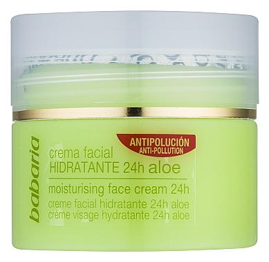 Crème à l'aloe vera pour visage - Babaria Aloe Vera 24-Hour Moisturising Face Cream — Photo N2