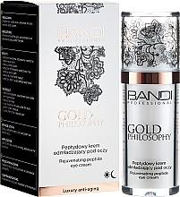 Parfums et Produits cosmétiques Crème aux peptides contour des yeux - Bandi Professional Gold Philosophy Rejuvenating Peptide Eye Cream