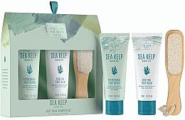 Parfums et Produits cosmétiques Scottish Fine Soaps Sea Kelp Foot Care Pamper Kit - Set (gommage pour pieds/75ml + baume pour pieds/75ml + râpe à pieds)