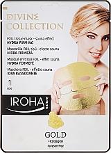 Parfums et Produits cosmétiques Masque tissu au collagène et or à effet sauna pour visage - Iroha Divine Collection Gold & Collagen