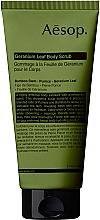 Parfums et Produits cosmétiques Gommage à la feuille de géranium pour corps - Aesop Geranium Leaf Body Scrub