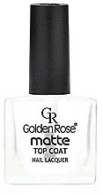 Parfums et Produits cosmétiques Top coat mat pour vernis à ongles - Golden Rose Matte Top Coat