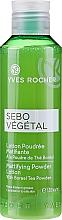 Parfums et Produits cosmétiques Lotion tonique poudrée matifiante à la poudre de thé boréal - Yves Rocher Sebo Vegetal Lotion