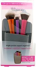 Parfums et Produits cosmétiques Organisateur pour pinceaux, gris - Real Techniques Single Pocket Expert Organizer Grey