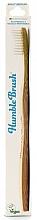 Parfums et Produits cosmétiques Brosse à dents en bambou pour adultes, vegan - The Humble Co. Adult Medium White Toothbrush
