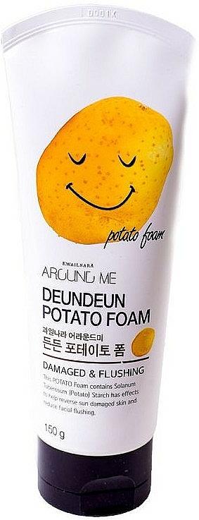 Mousse nettoyante à la fécule de pomme de terre pour visage - Welcos Around Me Potato Foam — Photo N1