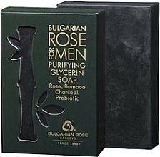 Parfums et Produits cosmétiques Savon à la glycérine et charbon actif de bambou - Bulgarian Rose For Men Purifying Glycerin Soap