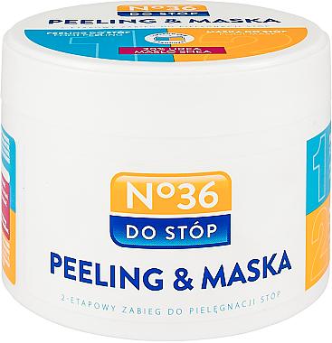 Masque-gommage 2 en 1 pour pieds - Pharma CF No.36 Peeling & Mask