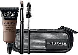Parfums et Produits cosmétiques Coffret cadeau - Make Up For Ever Aqua Brow Eyebrow Corrector Kit (corrector/7ml+brush/2pcs+bag) (15- Light Brown)