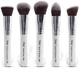 Parfums et Produits cosmétiques Nanshy Face Brush Set White - Set de pinceaux visage