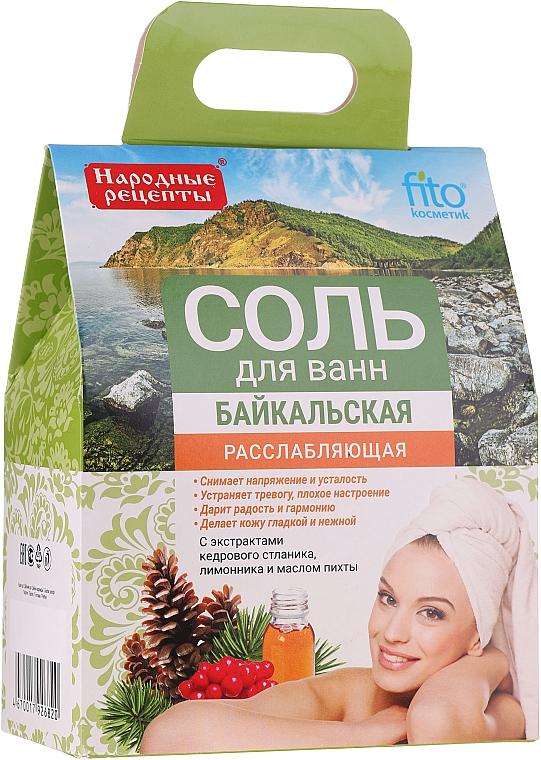 Sels de bain de Baïkal au cèdre et huile de sapin - Fito Kosmetik