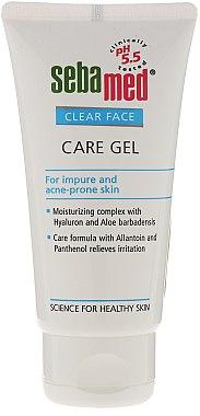 Gel nettoyant à l'extrait d'aloès et acide hyaluronique pour visage - Sebamed Clear Face Gel Moisturizing And Soothing Gel — Photo N1