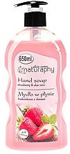 Parfums et Produits cosmétiques Savon liquide pour mains, Fraise et Aloe vera - Bluxcosmetics Naturaphy Hand Soap