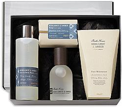Parfums et Produits cosmétiques Bath House Bergamot & Amber - Coffret cadeau(eau de cologne/100ml + gel douche/260ml + crème visage/100ml + savon/150g)
