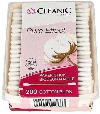 Cotons-tiges biodégradables - Cleanic Pure Effect