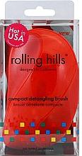 Parfums et Produits cosmétiques Brosse à cheveux démêlante compacte, rouge - Rolling Hills Compact Detangling Brush Red