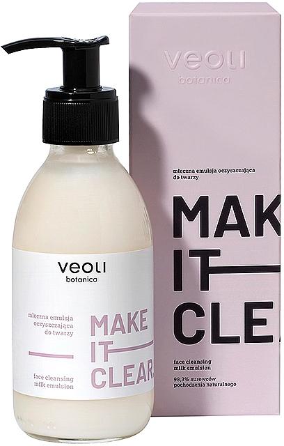 Émulsion de lait nettoyante pour visage - Veoli Botanica Face Cleansing Milk Emulsion Make It Clear