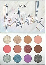 Parfums et Produits cosmétiques Palette de pigments pour paupières - Pur Festival 2.0 12-Piece Pressed Pigments Palette