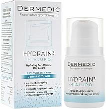 Parfums et Produits cosmétiques Crème de jour à l'extrait d'algues et acide hyaluronique, SPF 15 - Dermedic Hydrain 3 Hialuro Anti Winkle Day Cream