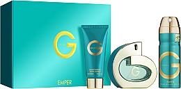 Parfums et Produits cosmétiques Emper G Pour Femme - Coffret (eau de parfum/100ml + déodorant spray/200ml + lotion corporelle/100ml)