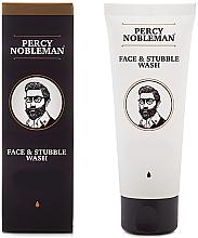 Parfums et Produits cosmétiques Gel nettoyant à la menthe poivrée pour visage et barbe - Percy Nobleman Face & Stubble Wash