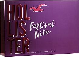 Parfums et Produits cosmétiques Hollister Festival Nite For Her - Coffret cadeau (eau de parfum/100ml + lotion corps/100ml + accessoire)