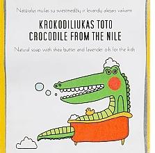 Parfums et Produits cosmétiques Savon naturel au beurre de karité et lavande pour enfant - Uoga Uoga Crocodile From The Nile Natural Soap