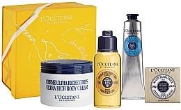 Parfums et Produits cosmétiques Coffret cadeau - L'Occitane Shea Butter Body Box (b/cr/200ml + h/cr/75ml + b/oil/75ml + soap/50g + box)