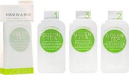 Parfums et Produits cosmétiques Soins au thé vert en 3 étapes pour mains et ongles - Voesh Mani In A Box Green Tea (10 g)