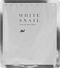 Parfums et Produits cosmétiques Masque tissu à la bave d'escargot pour visage - Holika Holika Prime Youth White Snail Tone-up Mask Sheet