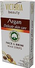Parfums et Produits cosmétiques Bandes de cire dépilatoires à l'huile d'argan pour le visage et la zone du bikini - Victoria Beauty Delicate Skin Care Face & Bikini Waxing Strips Argan