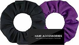 Parfums et Produits cosmétiques Lot de 2 chouchous Black&Violet - MakeUp