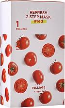 Parfums et Produits cosmétiques Masque bi-phasé à l'extrait de tomate pour visage - Village 11 Factory Refresh 2-Step Mask Red